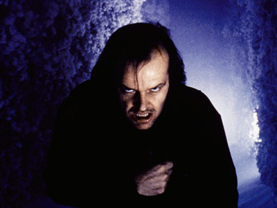 The Shining, Jack Nicholson | Jack Nicholson The Shining (1980) Nicholson's trademark line — ''Heeeere's Johnny!'' — gets all the attention, but the real thrill of Stanley Kubrick's horror masterpiece…