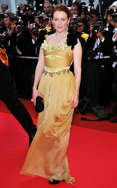 Style, Style: Red Carpet, ... | Did Julianne Moore get dressed in the dark when she wore this canary-hued Christian Lacroix haute couture dress to the 2008 premiere of her film…