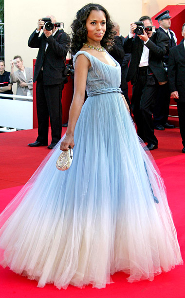 Style, Style: Red Carpet, ... | Kerry Washington swept down the red carpet at the 2007 premiere of Zodiac in an ombre tulle gown from Jean Paul Gaultier couture, which she…