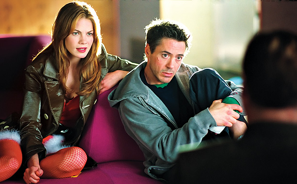 Michelle Monaghan and Robert Downey Jr.