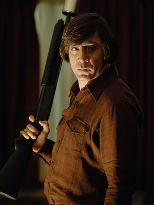 No Country for Old Men, Javier Bardem | Javier Bardem No Country for Old Men (2007) A man with a haircut modeled on a punch bowl rightfully belongs in some sort of Monty…