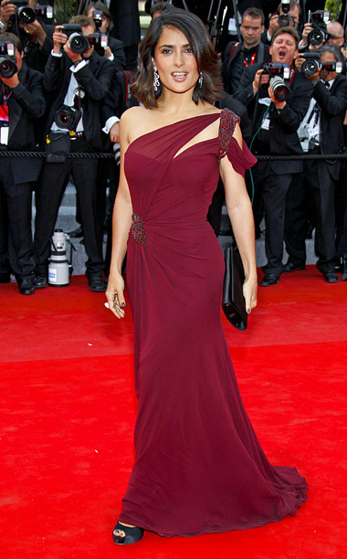 Style, Style: Red Carpet, ... | Salma Hayek had the honor of wearing the very first couture gown from the Gucci Première collection at the 2010 premiere of Robin Hood .