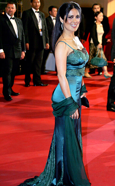 Style, Style: Red Carpet, ... | Salma Hayek went for sexy in a curve-hugging lingerie style gown at the 2005 premiere of Last Days , but the dowdy satin and lace…