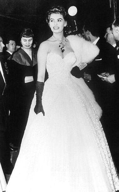 Style, Style: Red Carpet, ... | Sophia Loren arrived at the opening night of the 1955 film festival looking every bit a star in a sweetheart neckline gown paired with classic…
