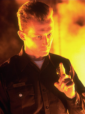 Terminator 2: Judgment Day, Robert Patrick | Robert Patrick Terminator 2: Judgment Day (1991) Sure, Ah-nold was intimidating as the Terminator in the first film, but place him alongside the sequel's shape-shifting,…