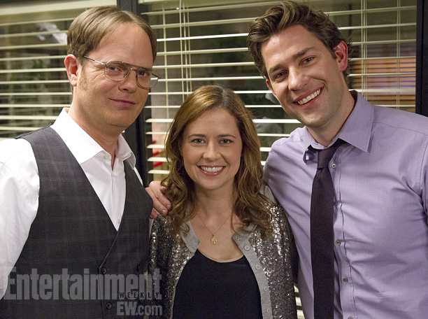 ''The three of us went through this together, arm in arm, from the very beginning,'' Wilson says. ''John [Krasinski, who plays Jim] and Jenna are…