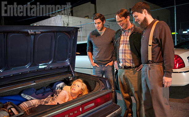 ''Mose [ Parks and Recreation exec producer Michael Schur] decides it's a good idea to kidnap Angela, so she's eventually found in the trunk of…