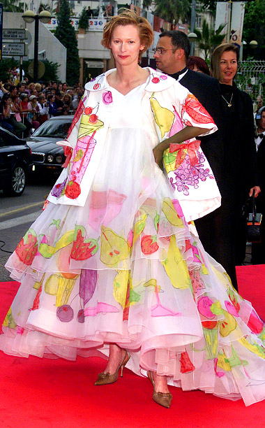 Style, Style: Red Carpet, ... | Tilda Swinton?s oversized fruit-print gown and matching coat might have worked if the actress was cast to play The Nutcracker ?s Mother Ginger on stage,…
