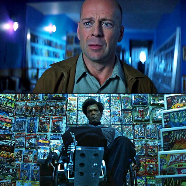 The Twist: Bruce Willis really is a superhero! Samuel L. Jackson is a supervillain mastermind! The Gist: Jackson's Elijah Price is a comic book aficionado…