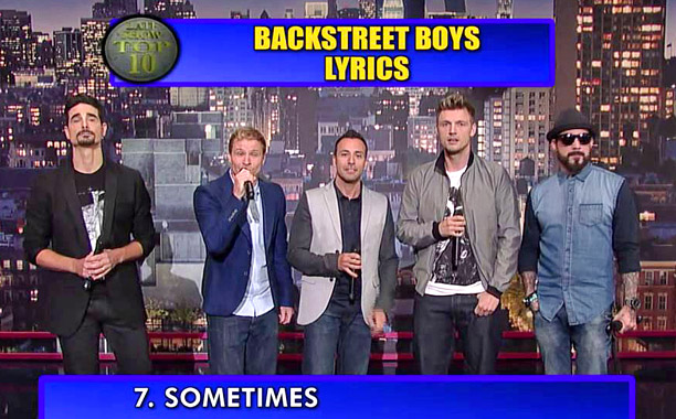 Backstreet Boys David Letterman