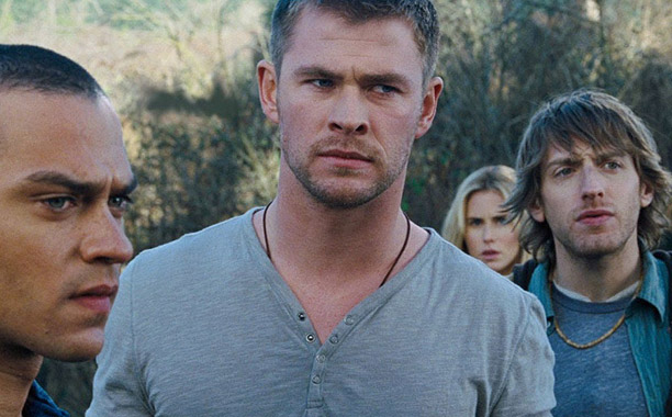 Hemsworth's jock never makes it to the actual apocalypse thanks to a high-flying encounter with a force field, but we're including him here because he…