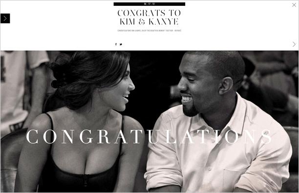 Congrats To Kim And Kanye