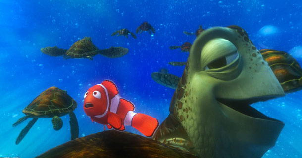 Finding Nemo | Where to begin? Crush the sea turtle — who's voiced by Nemo director Andrew Stanton and reminds me of an aquatic Jeff Lebowski — may…