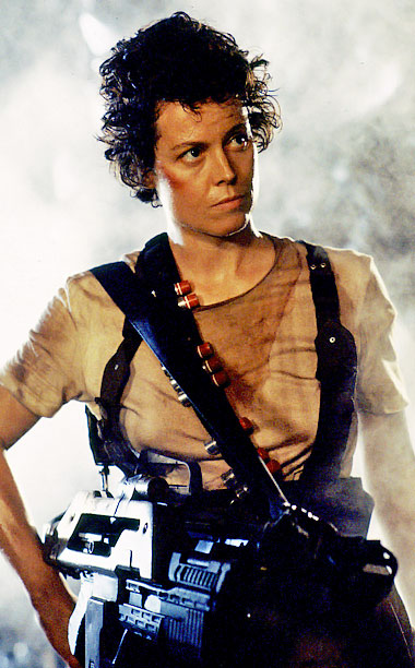 Sigourney Weaver, Aliens | Believe it or not, Ripley's packing heat under those sleeves.