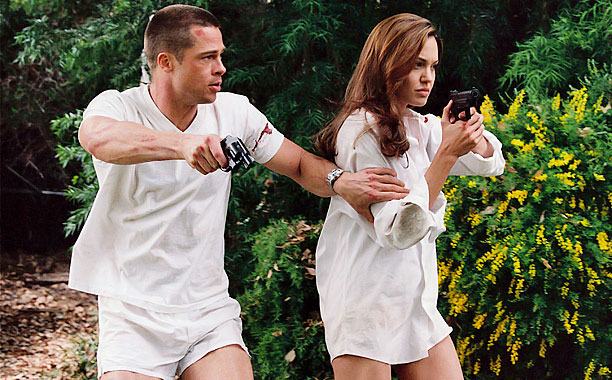 Brad Pitt, Angelina Jolie, ... | In which we learn that his-and-hers weapons, as well as pantsless house-destroying, are the keys to any successful relationship.