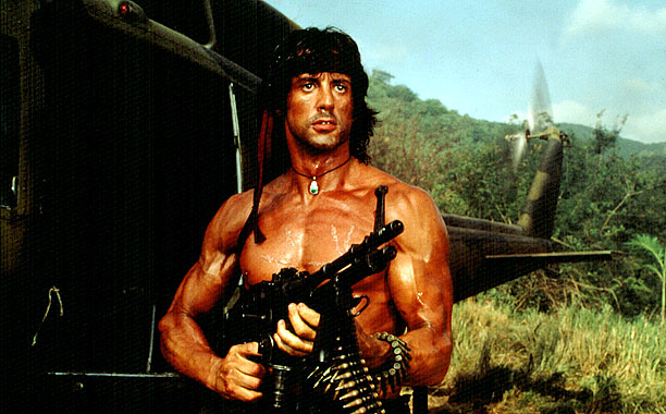 Rambo, Sylvester Stallone | Rambo wants what every other guy who came over here and spilled his guts and gave everything he had wants — access to firearms, and…