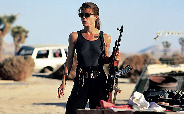 Linda Hamilton, Terminator 2: Judgment Day | Never get between a mama bear and her cub — especially if the mama bear happens to be a muscle-bound sharpshooter.