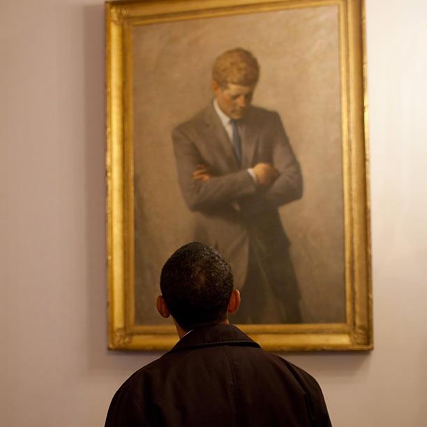 John F Kennedy By Aaron Shikler