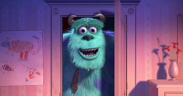 Monsters, Inc. | Less can be more, as the just-about-perfect ending to Monsters, Inc. demonstrates. Mike Wazowski has reconstructed the door to Boo's room, and Sulley slowly opens…