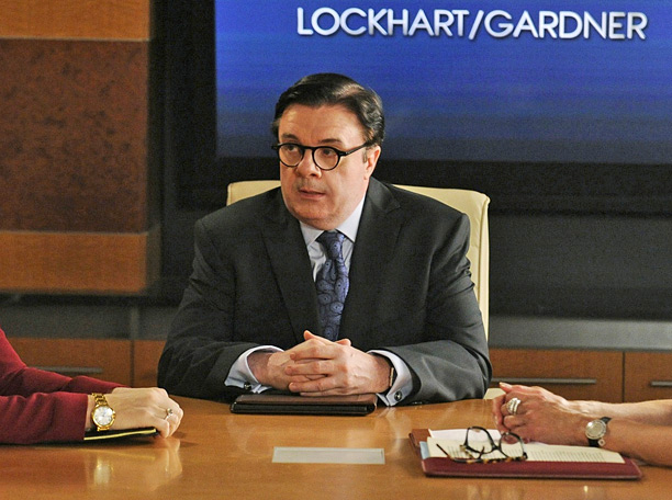 As Clarke Hayden, the bean-counting trustee who ended up wanting more than just the opportunity to clean up the books at Lockhart-Gardner, Nathan Lane was…