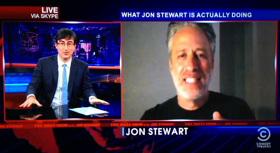 jon stewart skype daily show