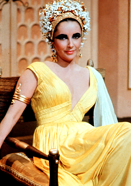 Elizabeth Taylor, Cleopatra | Elizabeth Taylor's Cleopatra is among one of the most iconic looks in film history. Her dramatic, feline eyeliner has become a mainstay for chic makeup…