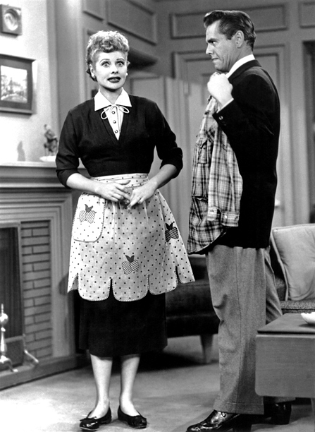 Desi Arnaz, Lucille Ball, ... | CBS, 1951-57 When Lucy debuted, Lucille Ball was perhaps better known for her comedic timing over her sense of style, but the truth is that…