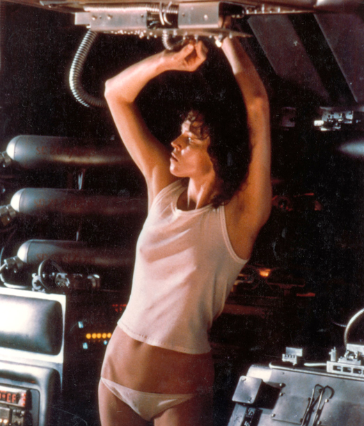 Sigourney Weaver, Alien | realizing you left your pants back on Earth. From: Alien