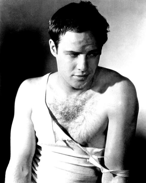 Marlon Brando, A Streetcar Named Desire | pioneering the wardrobe malfunction. From: A Streetcar Named Desire