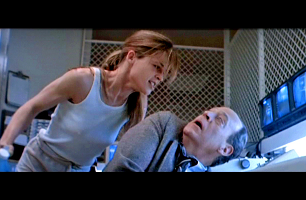 Linda Hamilton, Terminator 2: Judgment Day | instructing your doctor to open up and say ''Aaaaaaaaaaaah!'' From: Terminator 2: Judgment Day