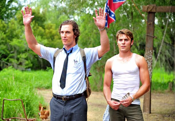 Zac Efron, Matthew McConaughey, ... | taking prank wardrobe tips from Matthew McConaughey. From: The Paperboy