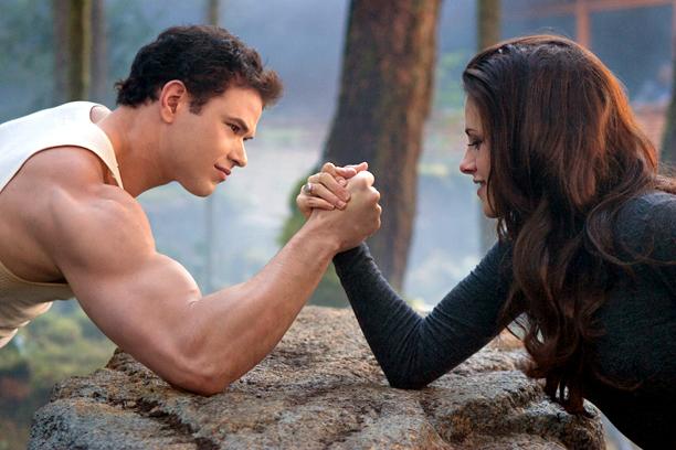Kellan Lutz, Kristen Stewart, ... | having a good old-fashioned sparklevamp arm-wrestling contest. From: The Twilight Saga: Breaking Dawn — Part 2