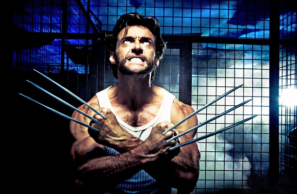 Hugh Jackman, X-Men Origins: Wolverine | attempting to remove your clothing without using your hands (no thanks to your stupid adamantium claws, gah)! From: X-Men Origins: Wolverine