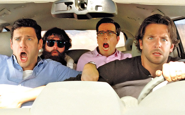 HAIR OF THE DOG Justin Bartha, Zach Galifianakis, Ed Helms, and Bradley Cooper return, each taking a little bit from each previous Hangover to finish…