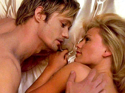 True Blood, Alexander Skarsgard, ... | Season 2, episode 9 Scene: Technically, it was just Sookie's first dream about Eric, but we rewound it so many times, we could practically feel…