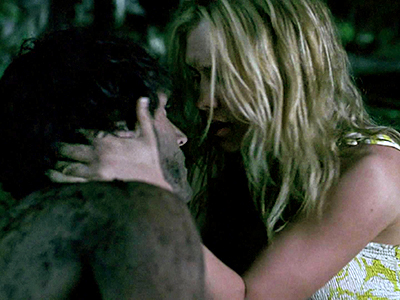 True Blood, Anna Paquin, ... | Season 1, episode 8 Scene: After believing Bill to be dead after a house fire, Sookie goes to leave flowers on his grave and soon…