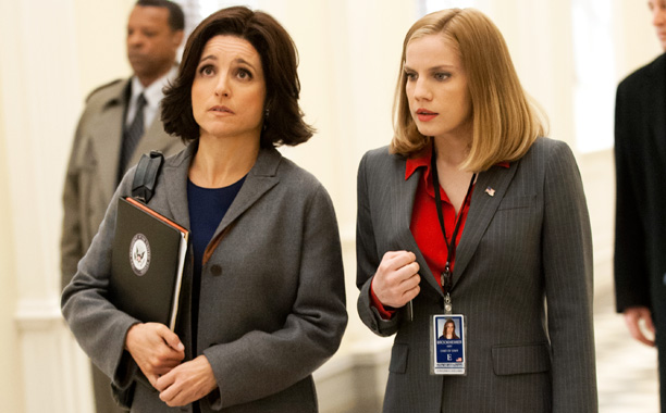 FOUL-MOUTHED FEMMES Selina (Julia Louis-Dreyfrus) ponders new ways to piss off her constituents.