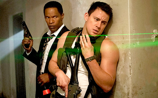 Like Die Hard in the White House! And even more like Olympus Has Fallen ! But it stars Channing Tatum in a wife-beater. ( Out…