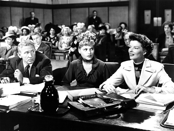 Directed by George Cukor Katharine Hepburn and Spencer Tracy play married lawyers arguing the opposite sides of a case — a perfect metaphor for marriage…