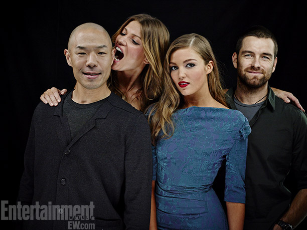 Hoon Lee, Ivana Milicevic, Lili Simmons, and Anthony Starr, Banshee