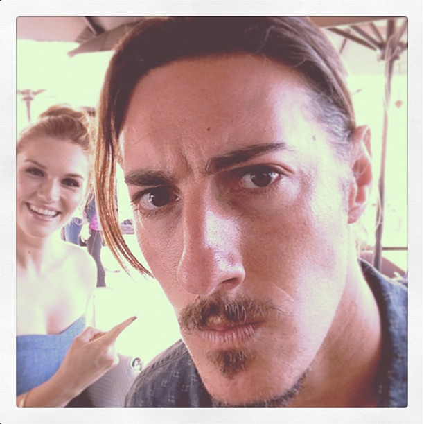 Eric Balfour, San Diego Comic-Con 2013 | @ericbalfour is all kinds of serious, @emilyrosela is not :)