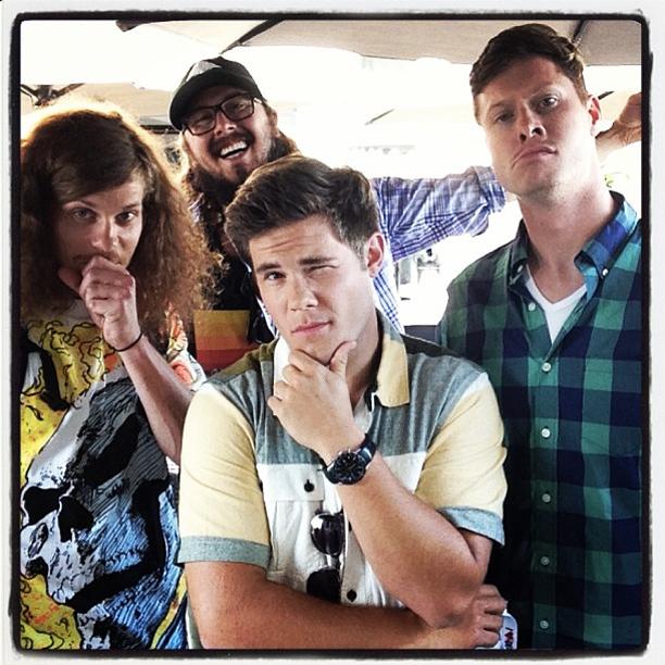 Adam DeVine, San Diego Comic-Con 2013, ... | The guys from #workaholics @ders808 @andybovine #uncleblazer #kylenewacheck