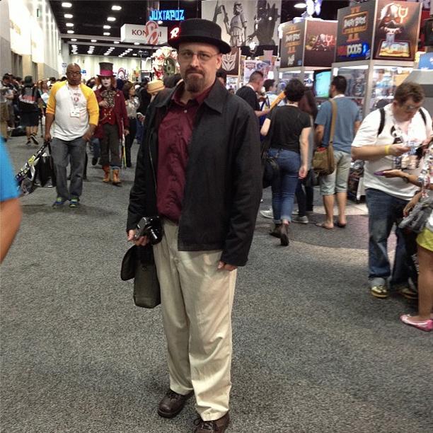 San Diego Comic-Con 2013, Breaking Bad | Heisenberg sighting on the floor.