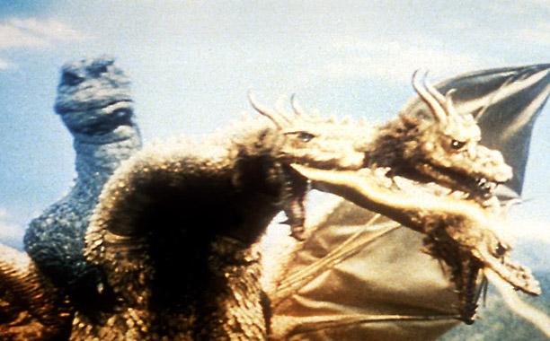 MONSTERS BALL Beasts Rodan, Mothra, King Ghidorah et. al. battle it out