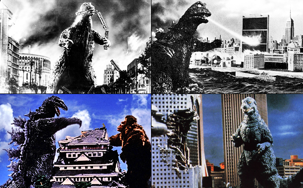 The wreckage: Godzilla (1998): Chrysler Building, Flatiron Building, Grand Central Station, Madison Square Garden, Manhattan Bridge, Williamsburg Bridge Godzilla (1954): Diet Building, Tokyo Tower, Wako…