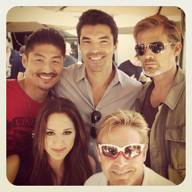 Casper Van Dien, San Diego Comic-Con 2013 | Hanging with @caspervandien @iananthonydale @brian_tee @lancesloane