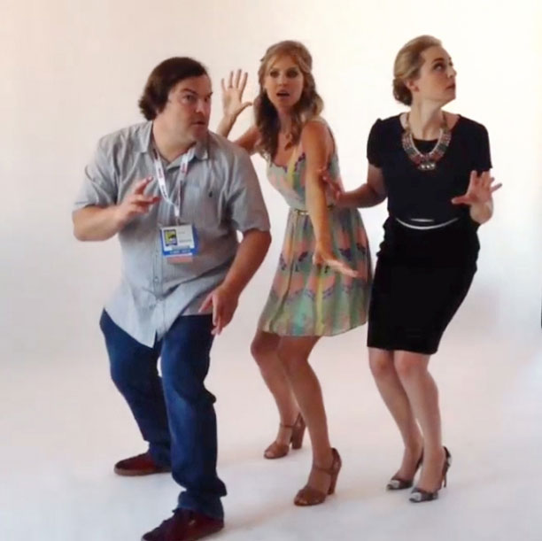 Jack Black, San Diego Comic-Con 2013 | Jack Black, Amanda Lund and Maria Blasucci