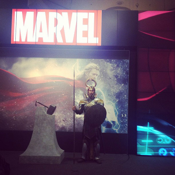 Marvel Studios, San Diego Comic-Con 2013 | Standing guard at #marvel