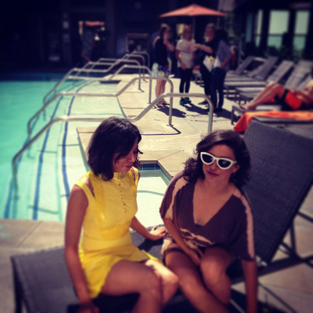 Alia Shawkat, San Diego Comic-Con 2013, ...   @evilhag and Alia Shawkat's #sdcc To Do List? Get some sun by the pool: Check!