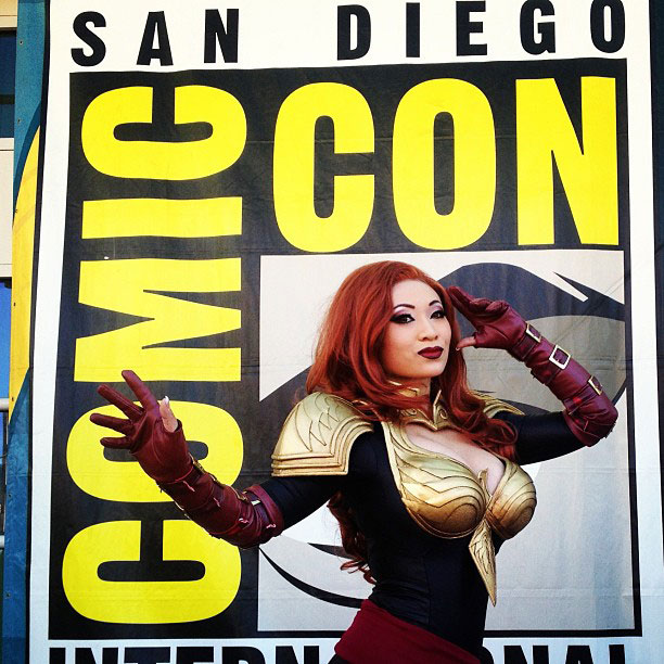 San Diego Comic-Con 2013   Down at preview night with @yayahan in her new Marvel Avengers Alliance Phoenix cosplay.
